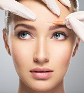 Aplicação facial de toxina botulínica