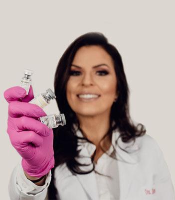Dra. Karen aplicação de toxina botulínica